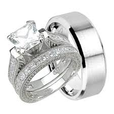 vintage bands rings images His and hers vintage style wedding ring set matching bands for him jpg