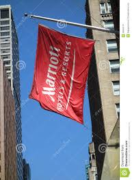 Outside Flag Marriott Flag Editorial Stock Photo Image Of Manhattan 39850178