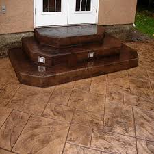 Stamped Concrete Patio Prices by Stamped Concrete Patio Vs Pavers Garden Treasure Patio Patio