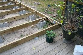 using concrete deck blocks it is actually a little off the cement