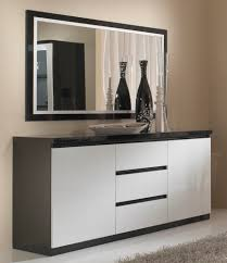 Vitrine Blanche Pas Cher by Buffet Blanc Laqu Fly Flybahut Portes Cheneblanc With Buffet