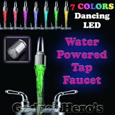 2017 led water faucet light changing shower tap head kitchen tap