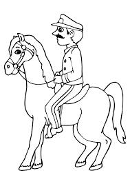 coloriage cavalier cheval police sur hugolescargot com
