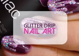 love life lacquer glitter drip nail art
