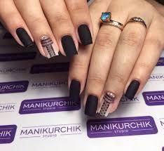 ideas of black matte nails the best images bestartnails com