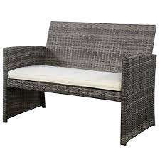 Sears Wicker Patio Furniture - goplus hw50276 4 pc rattan patio furniture set garden lawn sofa
