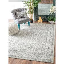 soft and plush the pile on this contemporary area rug is made