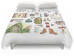 society6 let u0027s go camping duvet covers contemporary duvet