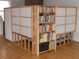 room divider shelves brown wood book shelf room divider with shelves and white panels