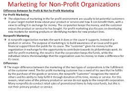 Sample Non Profit Resume by Marketing For Non Profit Organizations