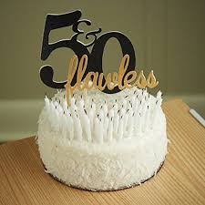 amazon com 50th birthday cake topper 50 u0026 flawless cake topper