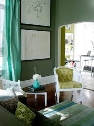 curtains for green walls living room ideas with dark brown couches fullcolor what colour