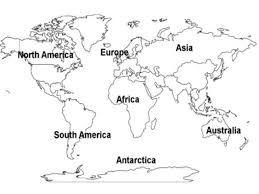 7 Continents Map Europe Coloring Map Of Countries At Cut Out Continents Page