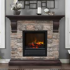 fresh austin electric fireplace stone look 18220
