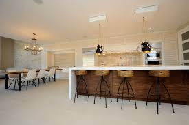 Modern Wood Bar Stool Open Kitchen With Wood Bar And Bar Stools Modern Kitchen