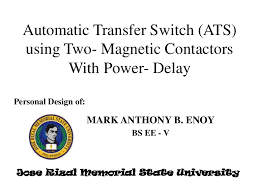 automatic transfer switch ats using two magnetic contactors with p u2026