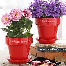 personalized flower pot family name personalized flower pot for the home