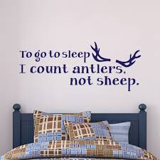 online get cheap counting quotes aliexpress com alibaba group to go to sleep i count antlers not sheep bedroom wall decal vinyl art quote 22 9cm x 56cm