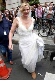 city wedding dress cattrall s and the city wedding dress found