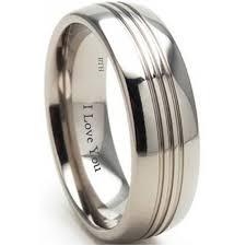 mens titanium wedding engagement comfort band ring