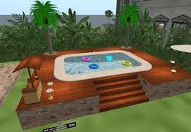 second life marketplace nhc natural wood pool deck