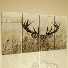 extra large whitetail deer animal contemporary canvas wall art