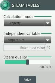 Saturated Steam Table Steam Tables Android Apps On Google Play