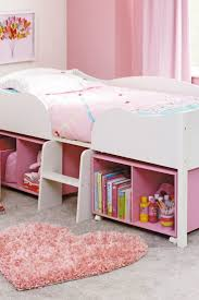 30 best evie new bed images on pinterest 3 4 beds bedroom ideas pink girls bedroom design with white bed furniture and storage shelves