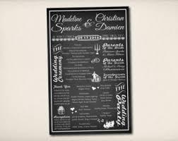 chalkboard wedding program template chalkboard program etsy