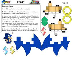 Sonic The Hedgehog Papercraft - sonic the hedgehog papercraft page 2 by xchosenone1 on deviantart