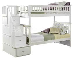 bedroom delightful bunk beds stairs twin over full white bunk