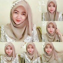tutorial hijab syar i untuk pernikahan kumpulan gambar tutorial cara memakai hijab pesta glamour terbaru
