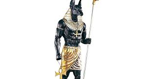 Anubis Halloween Costume Massive Lifesize Mighty Ancient Egyptian Anubis Sculpture Statue
