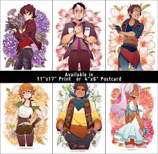 oversaturation voltron flowers posters