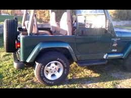2000 jeep wrangler top exterior 2000 jeep wrangler green with the top http