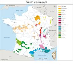 Map Of Lyon France by France Map Of Vineyards Wine Regions