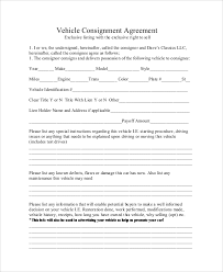 sample consignment agreement 10 examples in word pdf