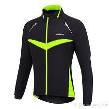waterproof bike jacket wosawe windproof waterproof cycling jacket long sleeve jersey winter