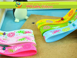 grosgrain ribbon bulk ppcrafts ribbon bulk oem 3 8 10mm colorfull lemon printed