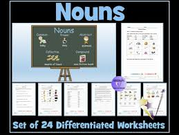 nouns common proper abstract collective compound set of 24