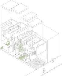 exploded floor plan machi house by uid architects architects architecture drawings