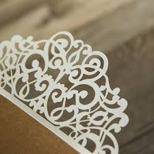 laser cut invitations rustic kraft paper laser cut invitations with twines ewws071 as
