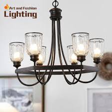 Glass Light Shades For Chandeliers Popular Iron Cottage Chandelier Vintage Surface With Clear Glass