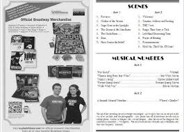 playbill wedding program playbill wedding program playbill ad template search