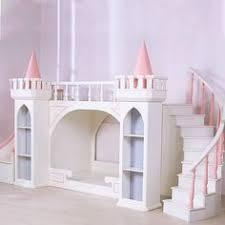 Castle Bunk Bed With Slide Children Bunk Bed Wooden 2 Floor Ladder Ark With Slide Bed Pink