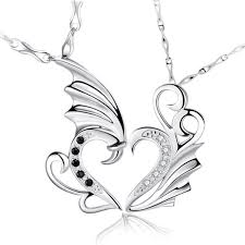 couple necklace images Silver dragon necklace for couple couple necklace usa jpg