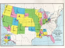 World Map Of The United States by Map Of Principal Meridians And Base Lines Governing The United