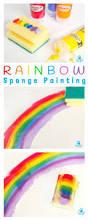 art for kids rainbow sponge painting rainbow art color mixing