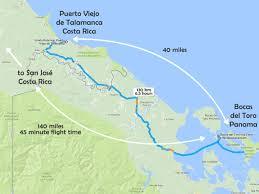 Run Map Costa Rica Panama Border Crossing