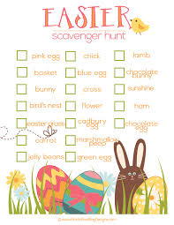 easter scavenger hunt free easter scavenger hunt idea free printable included